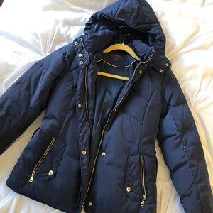 Cole Haan Puffer Coat - Navy Blue size M